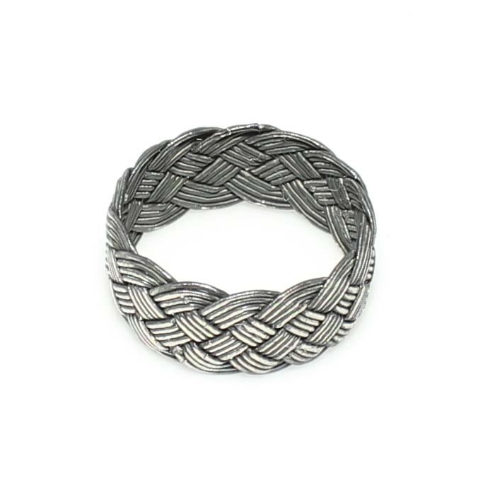 Inel argint handmade cu model impletit - ITU0222 0