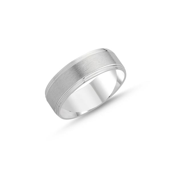 Inel argint lat cu aspect mat 0