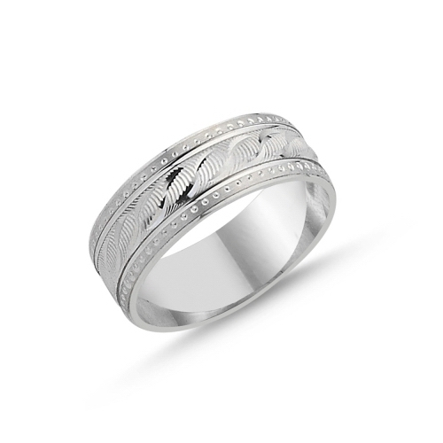 Inel argint lat cu model 0