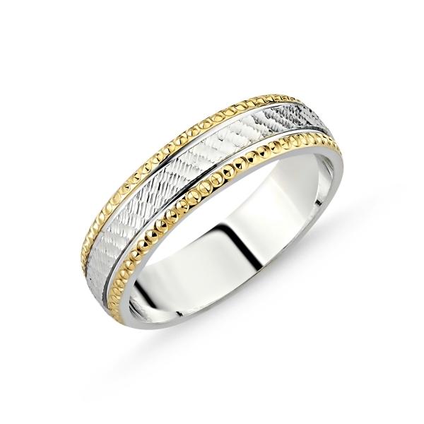 Inel argint lat placat cu aur pe exterior 0