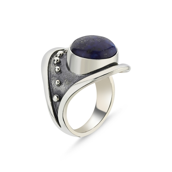 Inel argint lucrat manual, cu Lapis Lazuli [0]