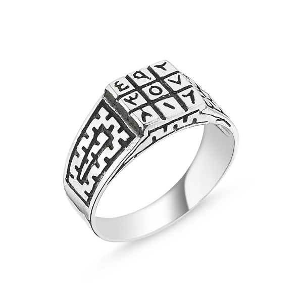 Inel argint Numerologie Abjad [0]