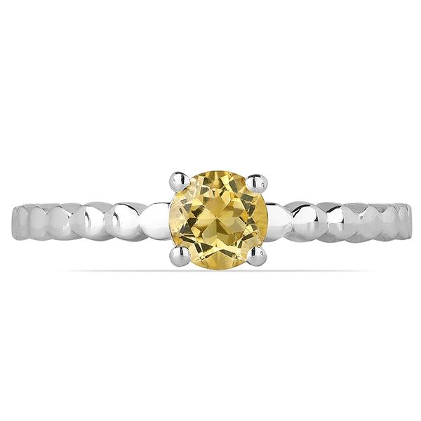 Inel argint Rosalind, 925, cu citrin - IVA0056 1