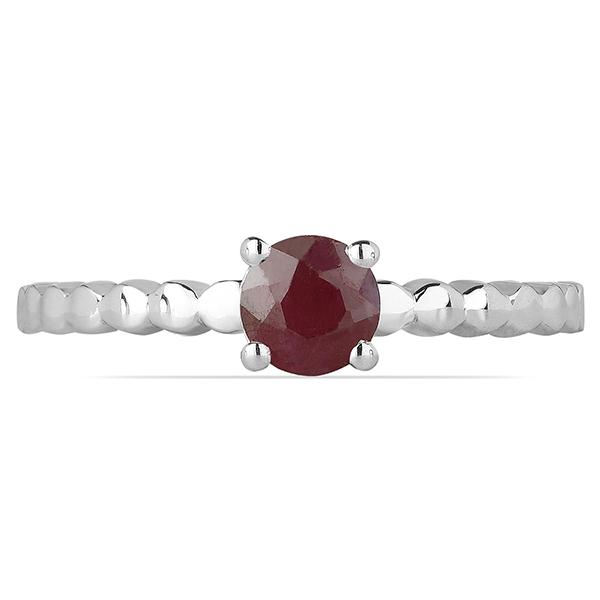 Inel argint Rosalind, 925, cu rubin - IVA0058 1