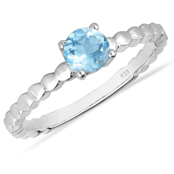 Inel argint Rosalind, 925, cu topaz albastru elvetian - IVA0062 0