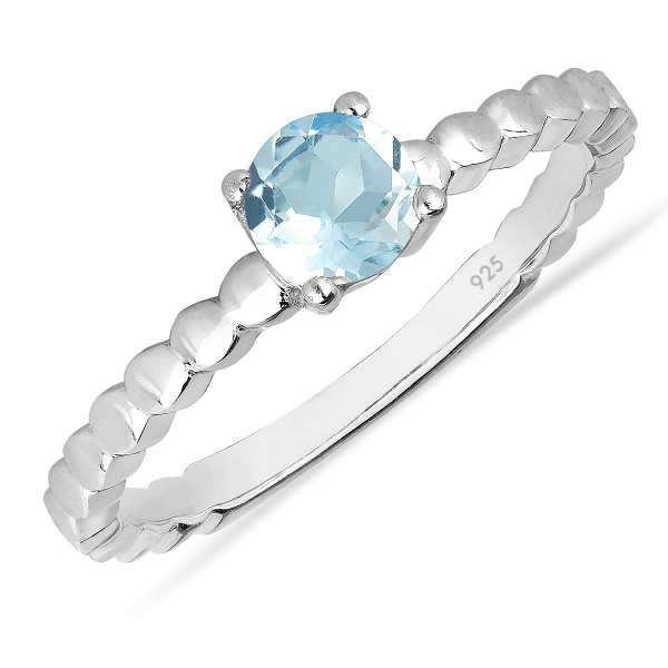 Inel argint Rosalind, 925, cu topaz Sky Blue - IVA0060 0