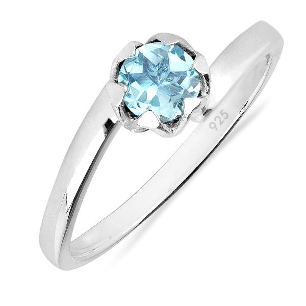 Inel argint Roxelana, 925, cu topaz albastru elvetian - IVA0072 0