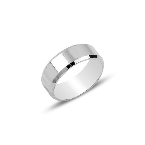 Inel argint simplu 6 mm, rodiat [0]