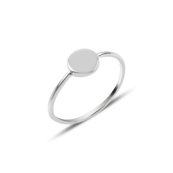 Inel argint simplu, rotund  0