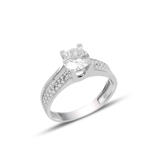Inel argint Solitaire cu zirconiu [0]