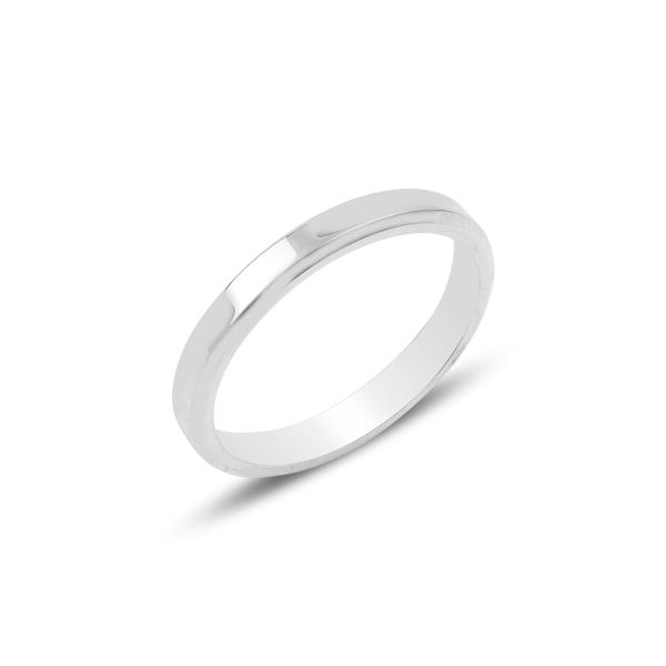 Inel argint tip vergheta cu margine tesita de 3 mm latime [0]
