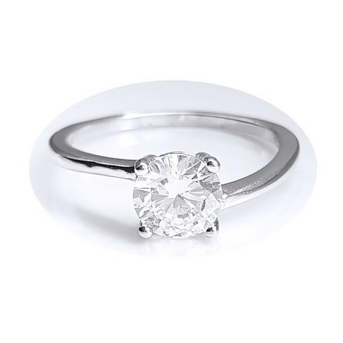 Inel elegant argint 925 cu zirconiu rotund [0]