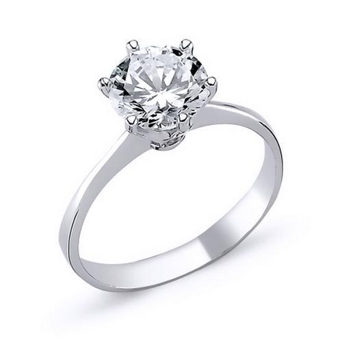 Inel elegant argint 925 rodiat cu zirconiu alb 0