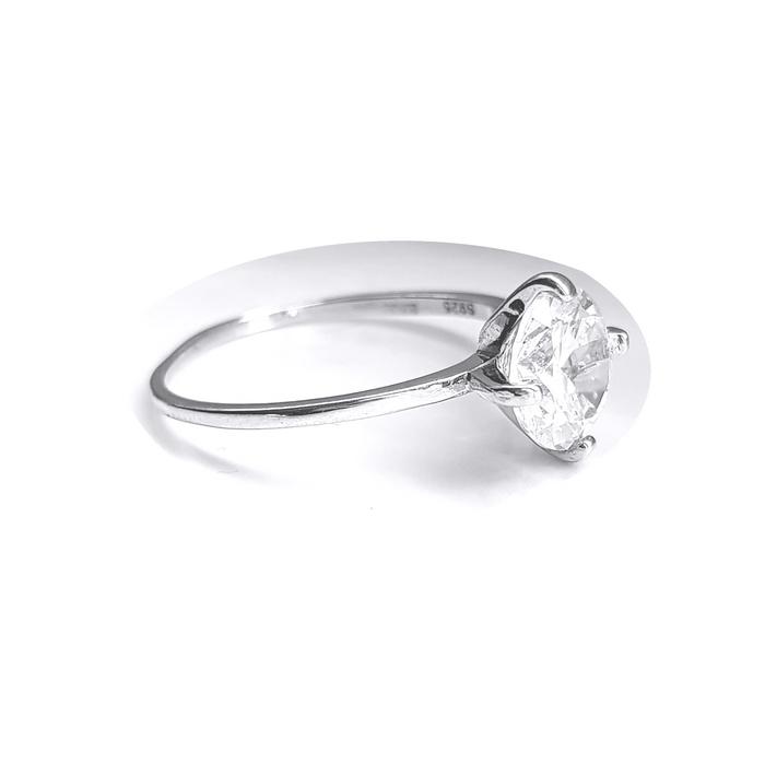Inel elegant argint 925 rodiat cu zirconiu alb 2