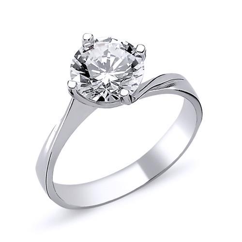 Inel elegant argint 925 rodiat cu zirconiu alb ITU0013 0