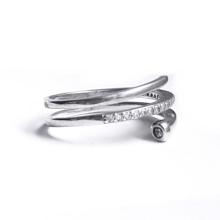 Inel elegant din argint 925 cu zirconii [0]