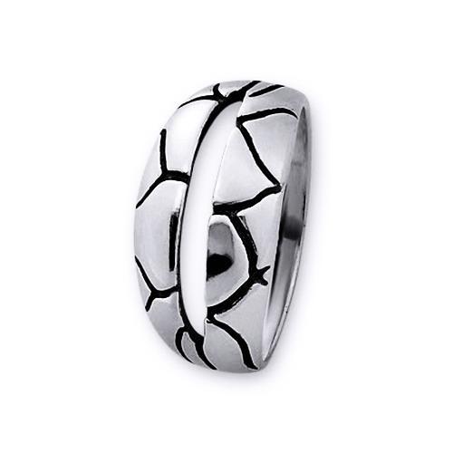 Inel elegant din argint 925 lucrat manual [0]