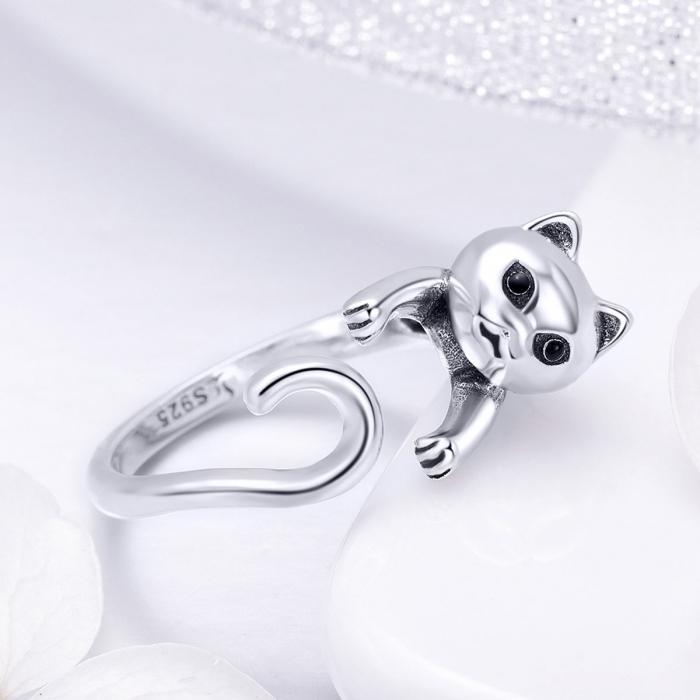 Inel reglabil argint 925 cu pisicuta - Be Nature IST0060 3