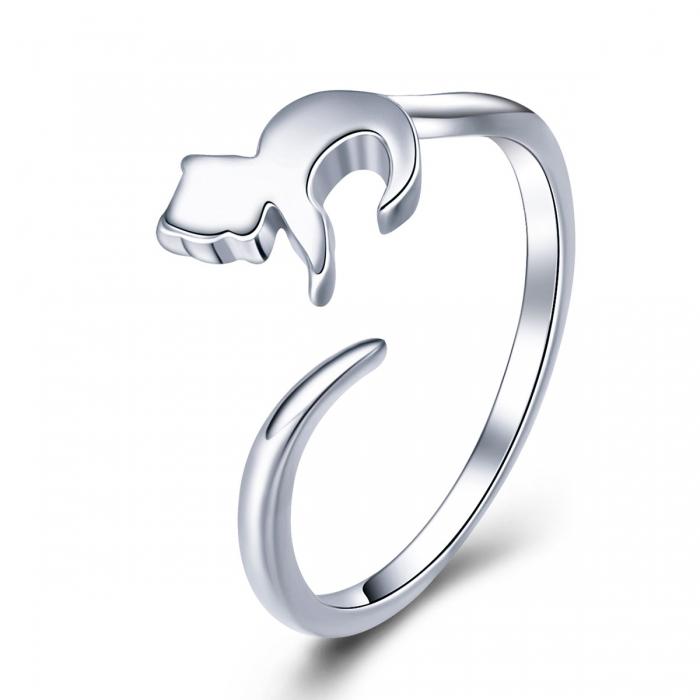 Inel reglabil argint 925 cu pisicuta - Be Nature IST0063 0