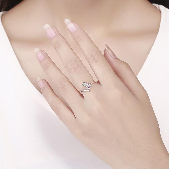 Inel reglabil argint 925 cu pisicuta - Be Nature IST0067 4