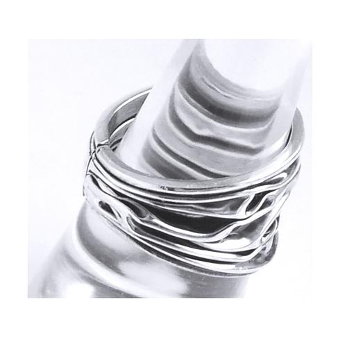 Inel reglabil din argint 925 model scoarta de copac INE0008 1