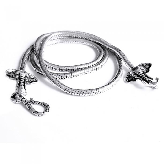 Lant argint 925 cu elefanti 3