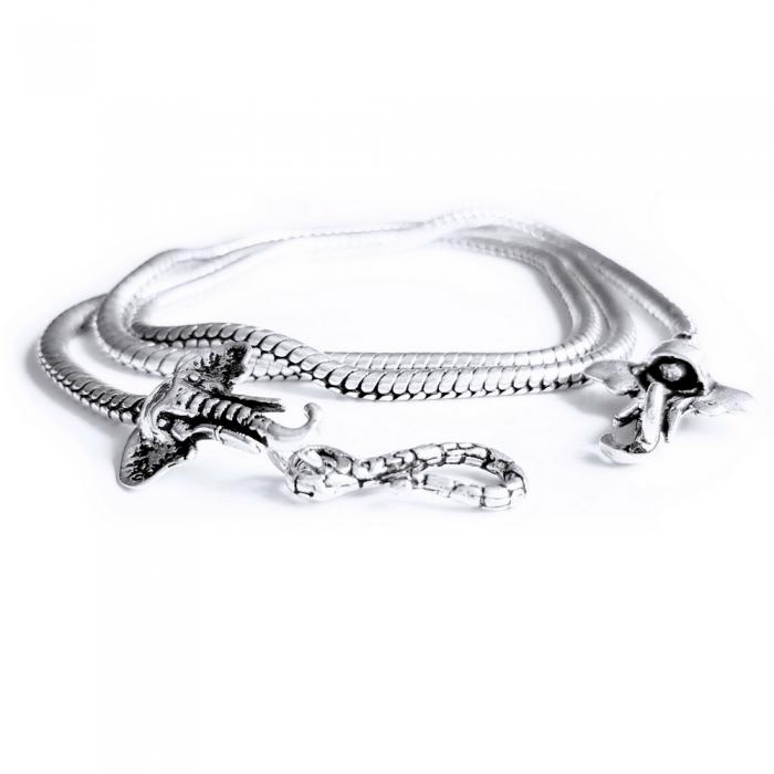 Lant argint 925 cu elefanti 1