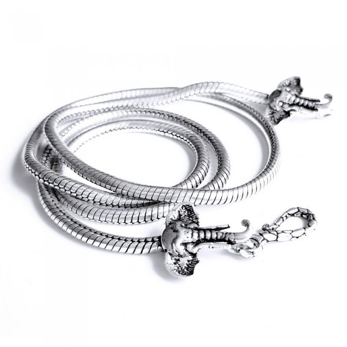 Lant argint 925 cu elefanti 2