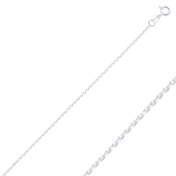 Lant argint 925 Forzentina, Latime: 1,45 mm placat cu rodiu - LTU0023 0