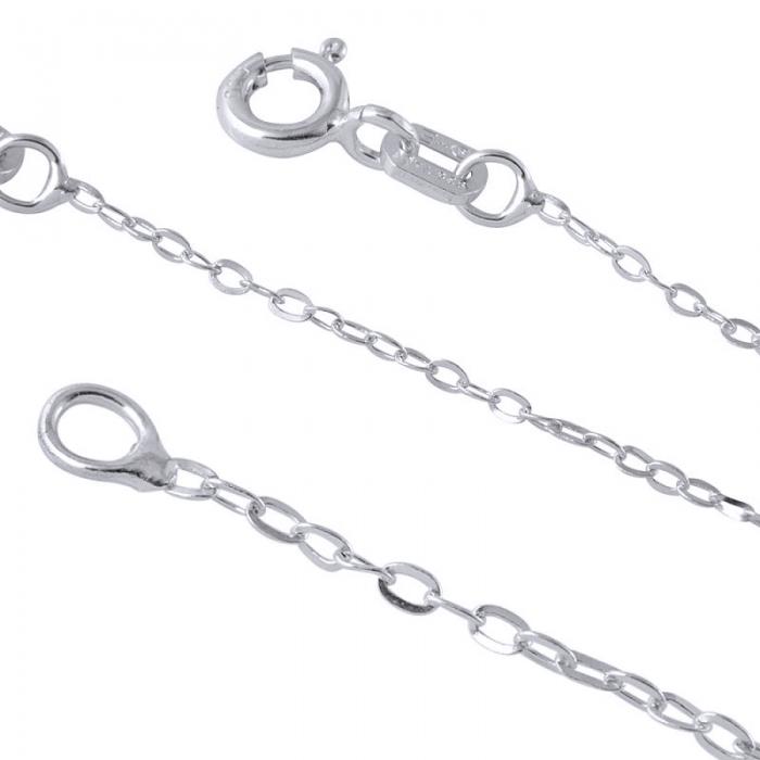 Lant argint 925 cu zale ovale 45 cm LSX0136 [0]
