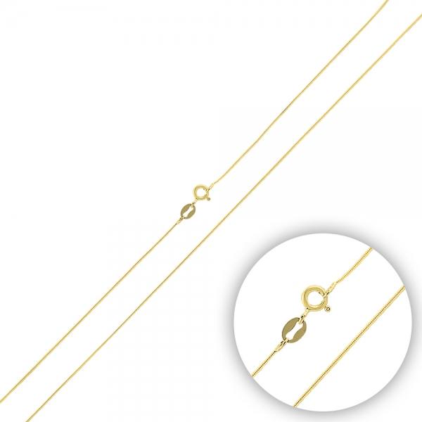Lant argint 925 tip sarpe placat cu aur galben - LTU0034 0