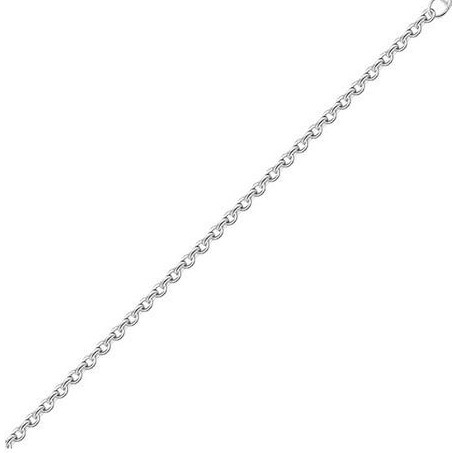 Lant argint cu zale ovale Forzentina 50 cm [0]