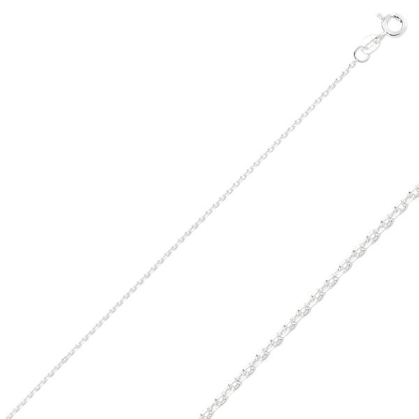 Lant argint cu zale ovale Forzentina 50 cm [1]