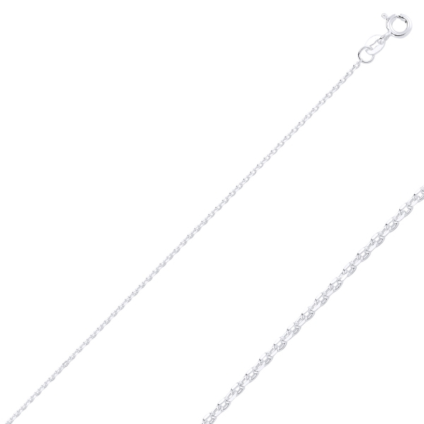 Lant argint Forzentina placat cu rodiu, 50 cm [0]