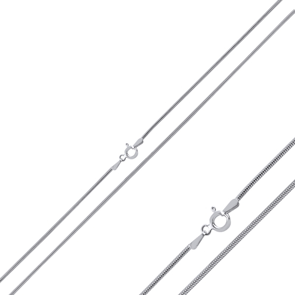 Lant argint Tondo 55 cm model sarpe placat cu rodiu [0]