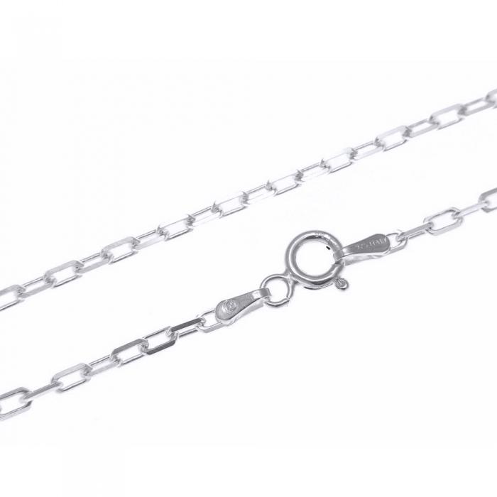 Lant de argint 925 cu zale dreptunghiulare 44 cm LAN0150 1