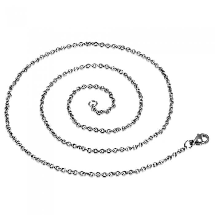 Lant inox cu zale ovale 2 mm si 50 cm 1