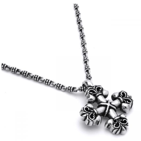 Lant TWISTED BLADE din argint 925 cu cruce [0]