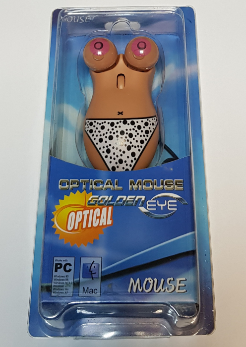 Mouse funny optic in forma de femeie topless 2
