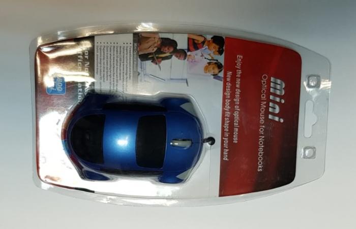 Mouse funny optic in forma de masinuta albastra 6