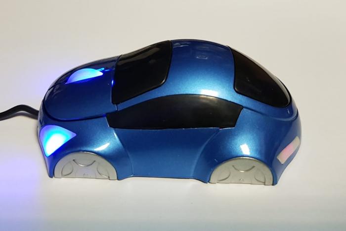 Mouse funny optic in forma de masinuta albastra 4