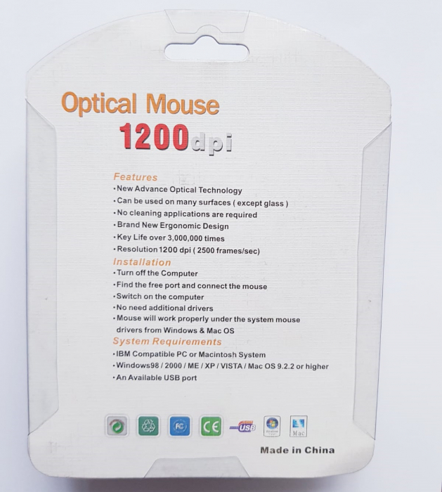 Mouse funny optic mini - in forma de pestisor 4