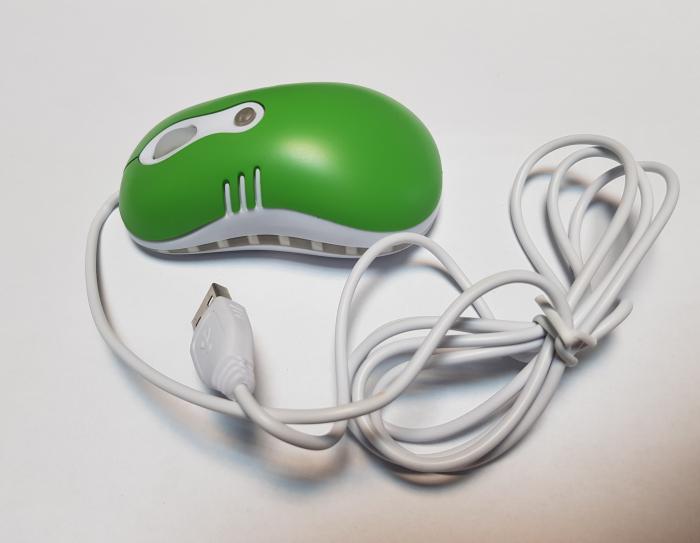 Mouse optic mini VERDE cu mufe USB si PS2 5