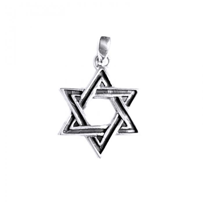 Pandant argint 925 cu Steaua lui David 1