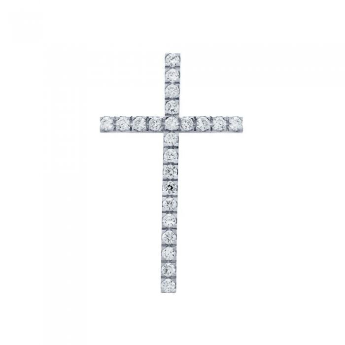 Pandant argint 925 rodiat in forma de cruce PSX0624 1