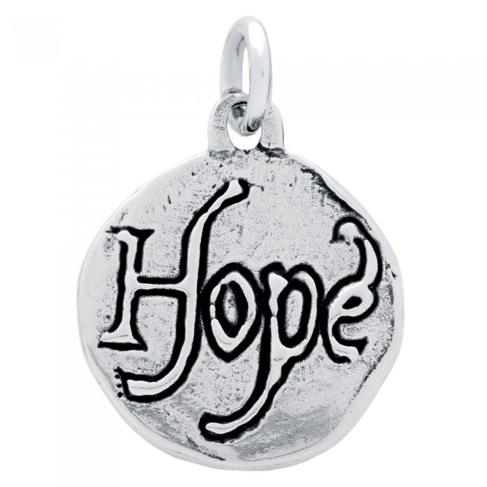 Pandant argint 925 cu doua fete porumbel si HOPE PSX0627 1