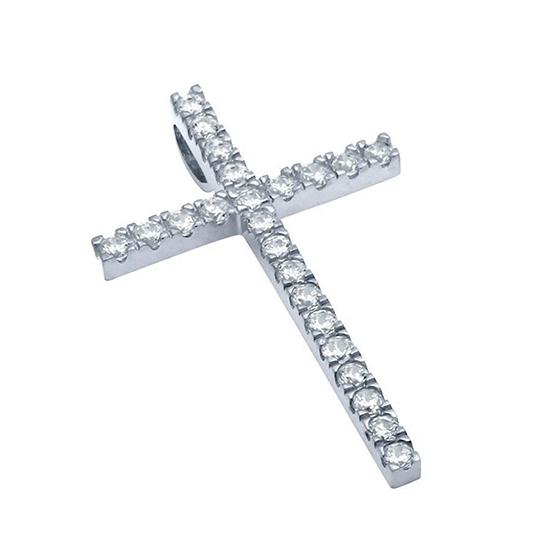 Pandant argint 925 rodiat in forma de cruce PSX0624 0