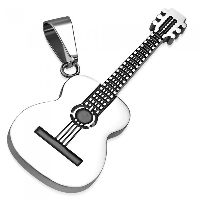 Pandant in forma de chitara acustica 0