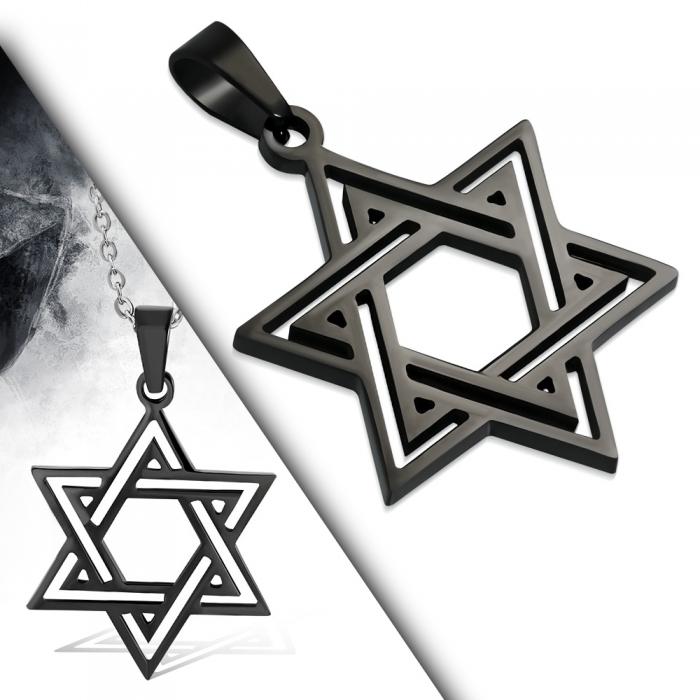 Pandant otel inox cu steaua lui David 1