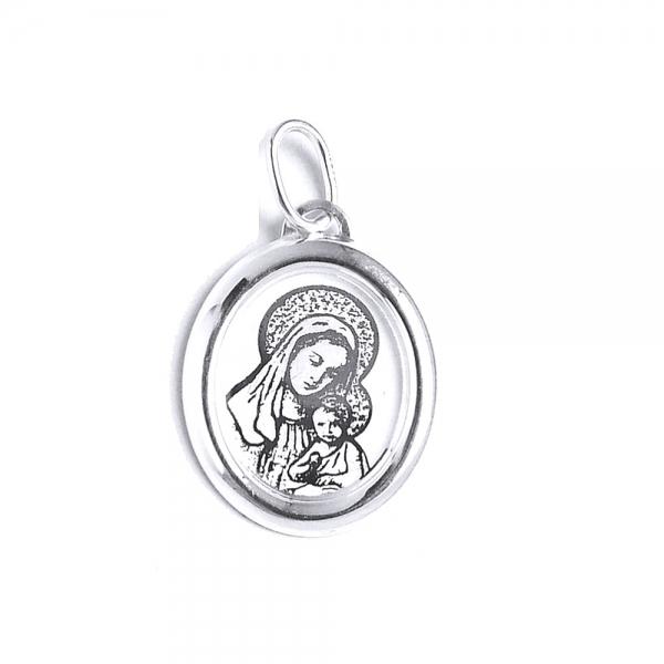Pandantiv argint 925 iconita cu Maica Domnului [0]